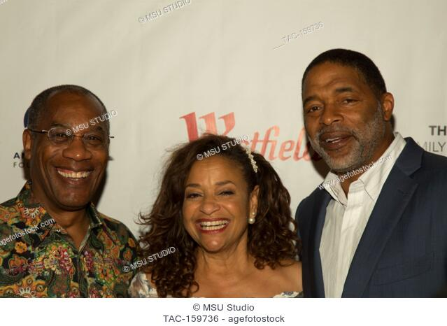 Joe Morton, Debbie Allen and Norman Nixon attend Sunday Matinee of 'Turn Me Loose' at Wallis Annenberg Center for the Performing Arts on October 15