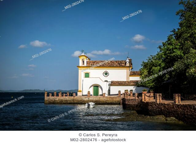 Church of Our Lady of Loreto located on the island of the Frades in the Bay of All Saints in Salvador Bahia Brazil