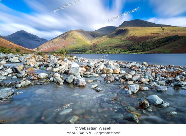Wast Water in autumn, Lake District National Park, Cumbria, England, United Kingdom, Europe