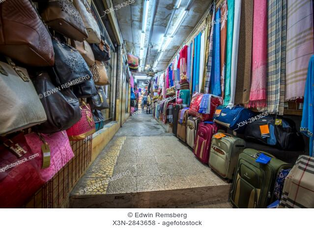 Muscat, Oman - Souq Muttrah View down street of market