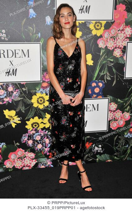 Alexa Chung at the ERDEM x H&M Runway Show and Party held at The Ebell of Los Angeles in Los Angeles, CA on Wednesday, October 18, 2017