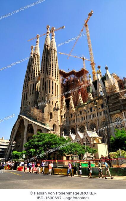Towers Of Sagrada Familia Designed The Most Famous Spanish Architect Antoni Gaudi In A Modernist Style Barcelona Spain Iberian Peninsula Europe