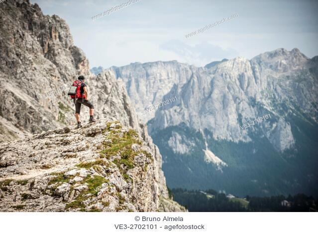 Catinaccio-Rosengarten dolomites Group near Vajolet refuge, (Autonomous Province of Trento, Region of Trentino-Alto Adige, Italy)