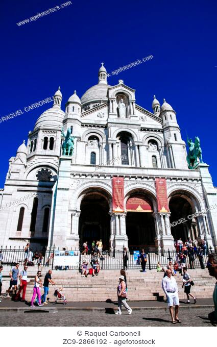 Sacre Coeur. The Basilica of the Sacred Heart of Paris, commonly known as Sacré-Cœur Basilica is a Roman Catholic church dedicated to the Sacred Heart of Jesus