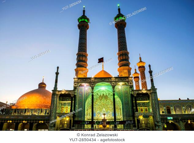 Iwan of Fatima Masumeh Shrine, Shiah Islam holy place in Qom city, capital of Qom Province of Iran