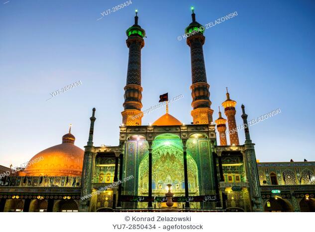 Iwan of Fatima Masumeh Shrine, Shiah Islam holy place in Qom city, capital of Qom Province of Iran