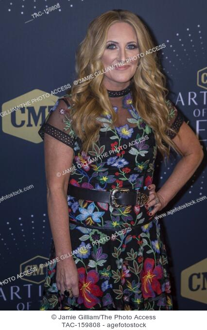 NASHVILLE, TN - Lee Ann Womack arrives on the red carpet at the 2017 CMT Artists of the Year at the Schermerhorn Symphony Center in Nashville, TN