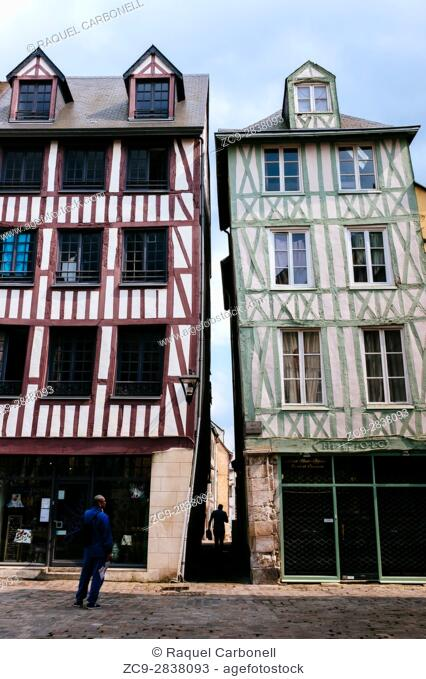Traditional houses, Rouen, Seine-Maritime, Normandy, France