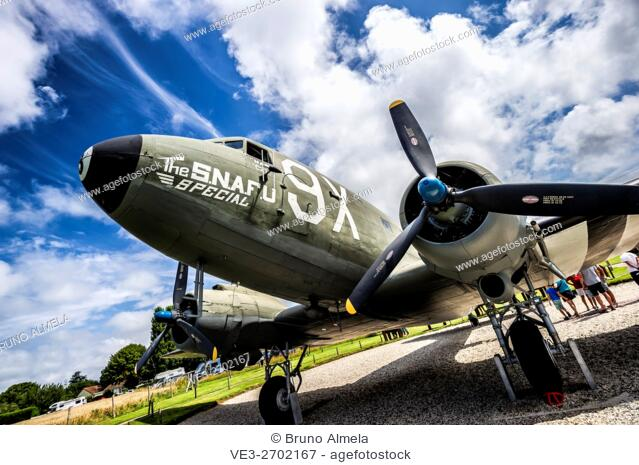 Douglas C-47 Dakota in the battery fire base of Merville (department of Seine-Maritime, region of Normandie, France)