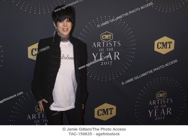NASHVILLE, TN - Songwriter Dianne Warren arrives on the red carpet at the 2017 CMT Artists of the Year at the Schermerhorn Symphony Center in Nashville, TN