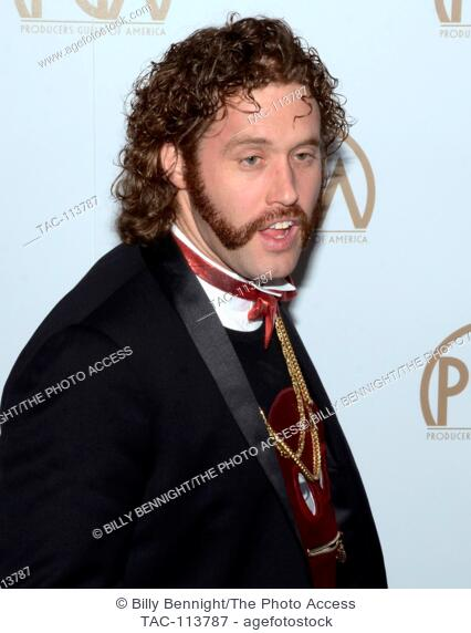 T. J. Miller arrives at the 28th Annual Producers Guild Awards at The Beverly Hilton Hotel in Beverly Hills, California on January 28, 2017