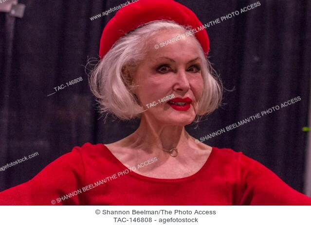 Julie Newmar interacts with fans on June 24th 2017 at the Amazing Las Vegas Comic Con at the Las Vegas Convention Center in Las Vegas, NV