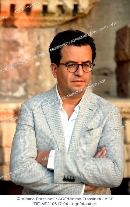 The writer Hisham Matar during the Opening evening of International Literatures Festival, Rome, ITALY-20-06-2017