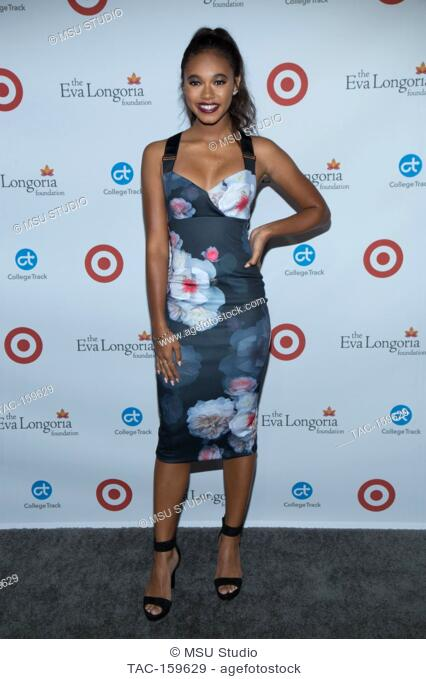 Actress Chandler Kinney attends the 6th Annual Eva Longoria Foundation Dinner at Four Seasons Hotel Los Angeles at Beverly Hills on October 12