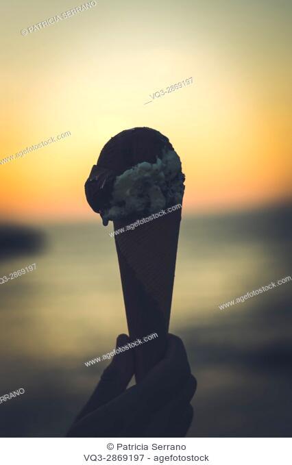 Ice cream in the evening