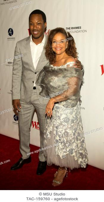 Corey Hawkins and Debbie Allen attend Sunday Matinee of 'Turn Me Loose' at Wallis Annenberg Center for the Performing Arts on October 15, 2017 in Beverly Hills