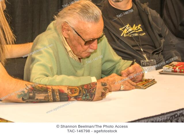 Stan Lee signs autographs on June 24th 2017 at the Amazing Las Vegas Comic Con at the Las Vegas Convention Center in Las Vegas, NV