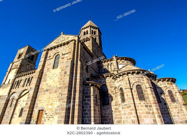 Romaneque church of Saint Nectaire. Puy de Dome. Auvergne. France