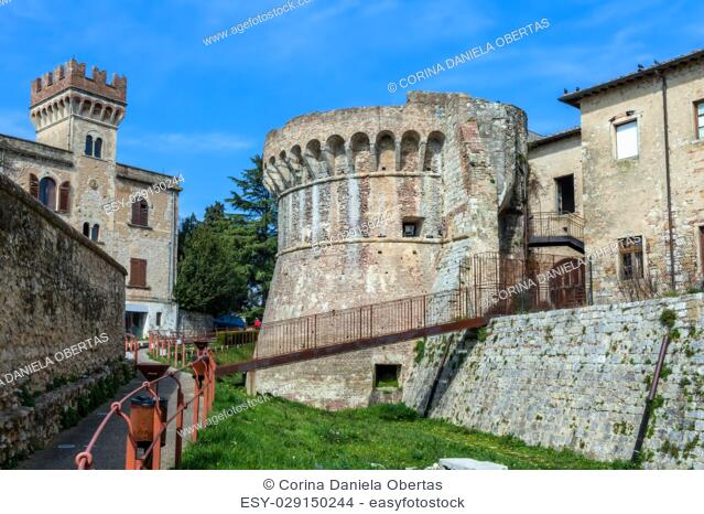 Medieval fortification at Colle Di Val D Elsa, Tuscany, Italy