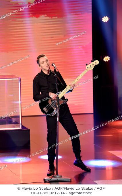 The xx guests at tv show Che tempo che fa ,Milan, ITALY-19-02-2017