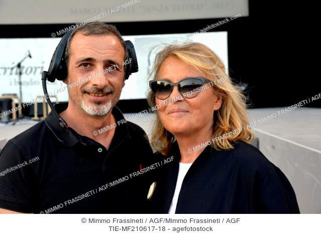 The director Fabrizio Arcuri and the creator of Festival Maria Ida Gaeta during the Opening evening of International Literatures Festival, Rome