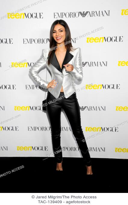 Victoria Justice attends the Teen Vogue Young Hollywood Issue Party on October 2nd, 2015 in Beverly Hills, California