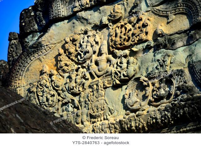 Relief at Angkor Wat temple,Cambodia,Indochina,Southeast Asia,Asia