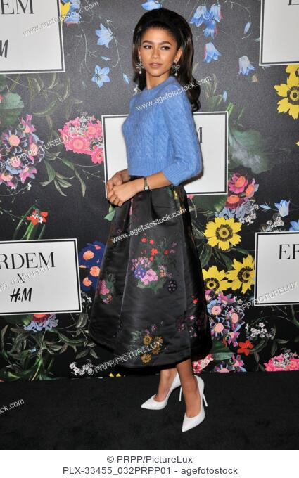 Zendaya at the ERDEM x H&M Runway Show and Party held at The Ebell of Los Angeles in Los Angeles, CA on Wednesday, October 18, 2017